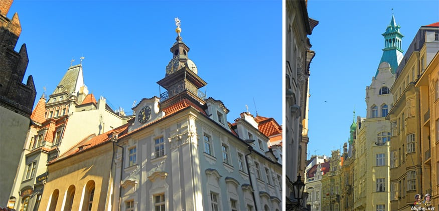 art nouveau buildings of the jewish quarter