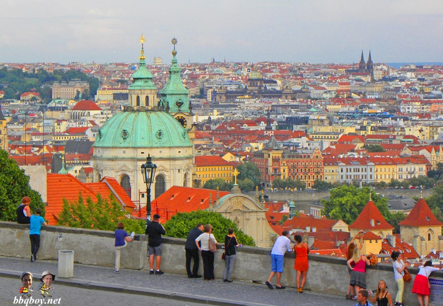 views over prague from castle square