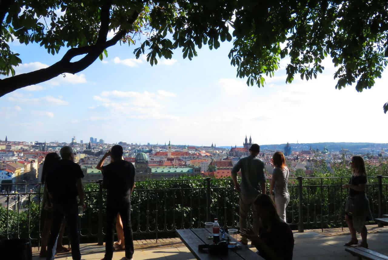 Beer and views at Letna Park. 50 Things to do in Prague