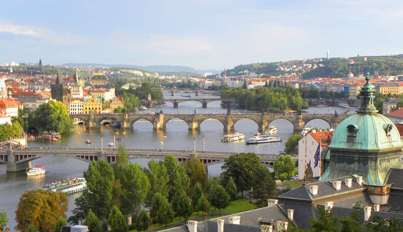 Most scenic view in Prague