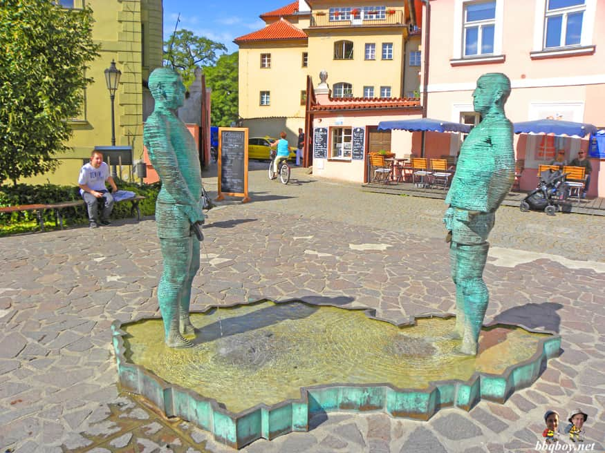 David Cerny's peeing statue, Prague