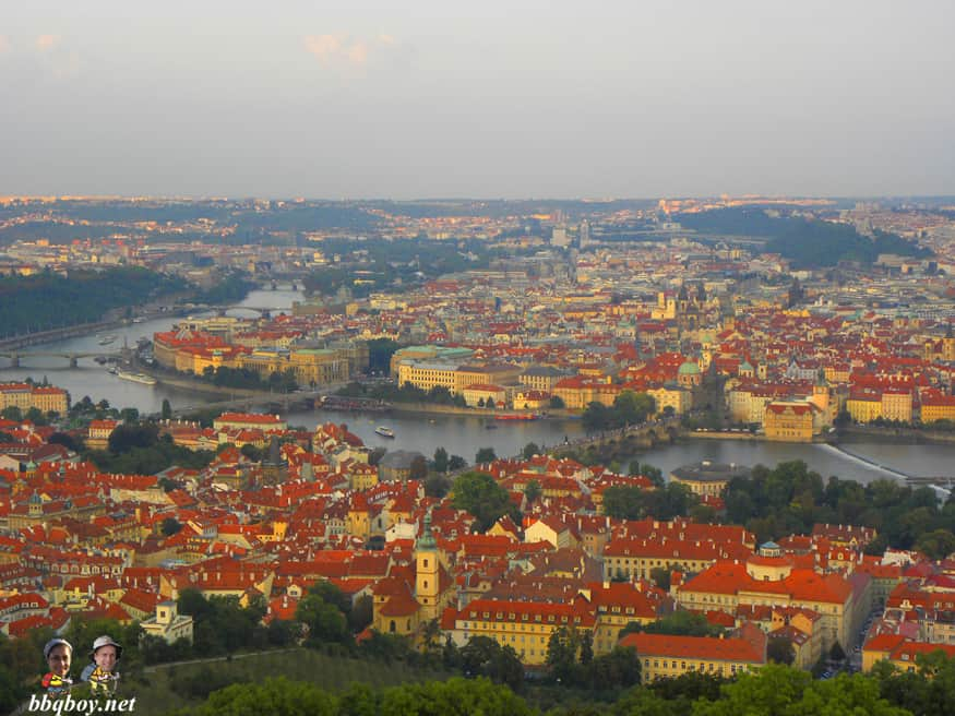 Views from Petrin tower, Prague