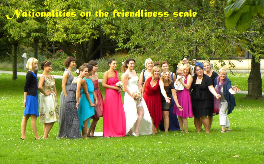 nationalities on the friendliness scale