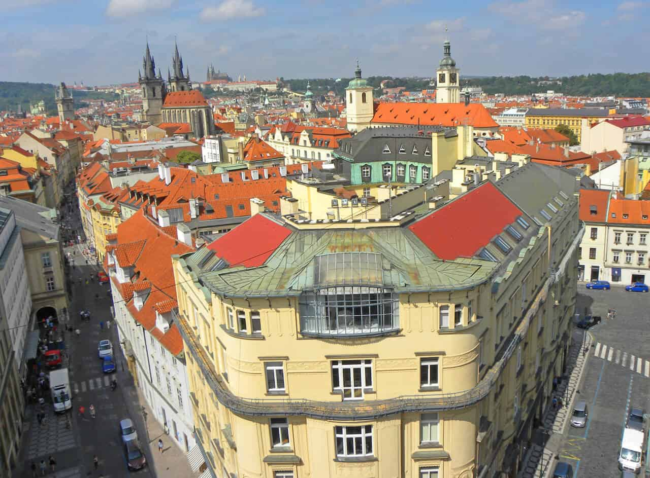 views from the Powder Tower, Prague