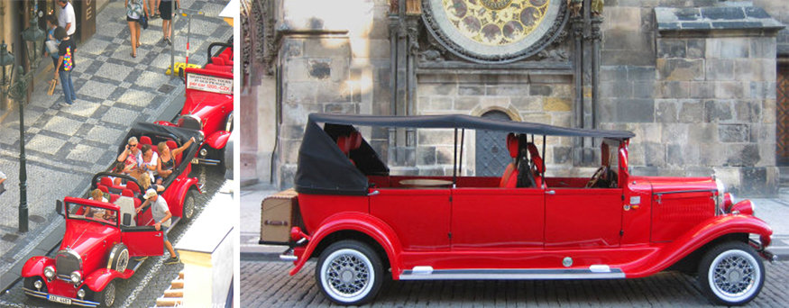 vintage car tour Prague