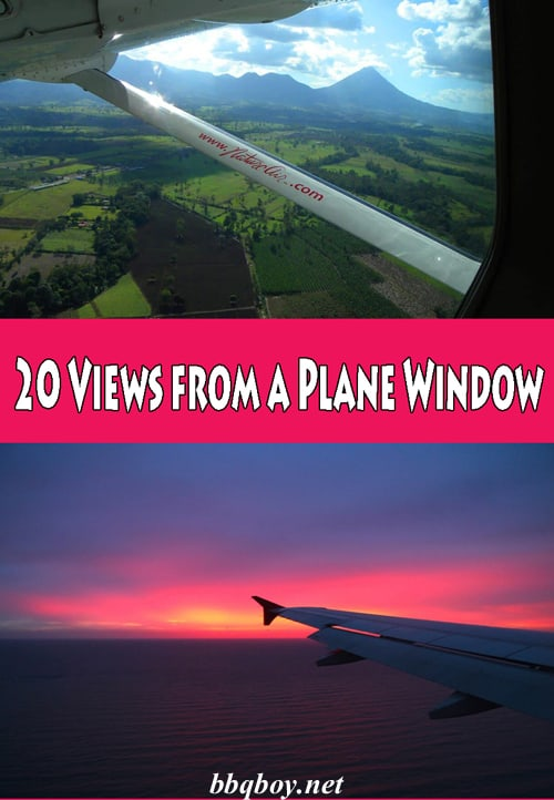 20 Views from a Plane Window
