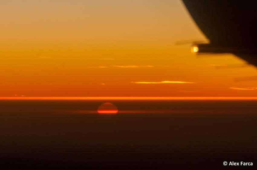 sunset enroute to Poland. 20 Views from a Plane Window