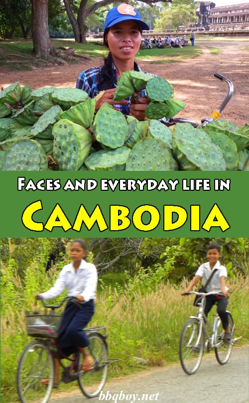 Photos of Faces and everyday life in Cambodia