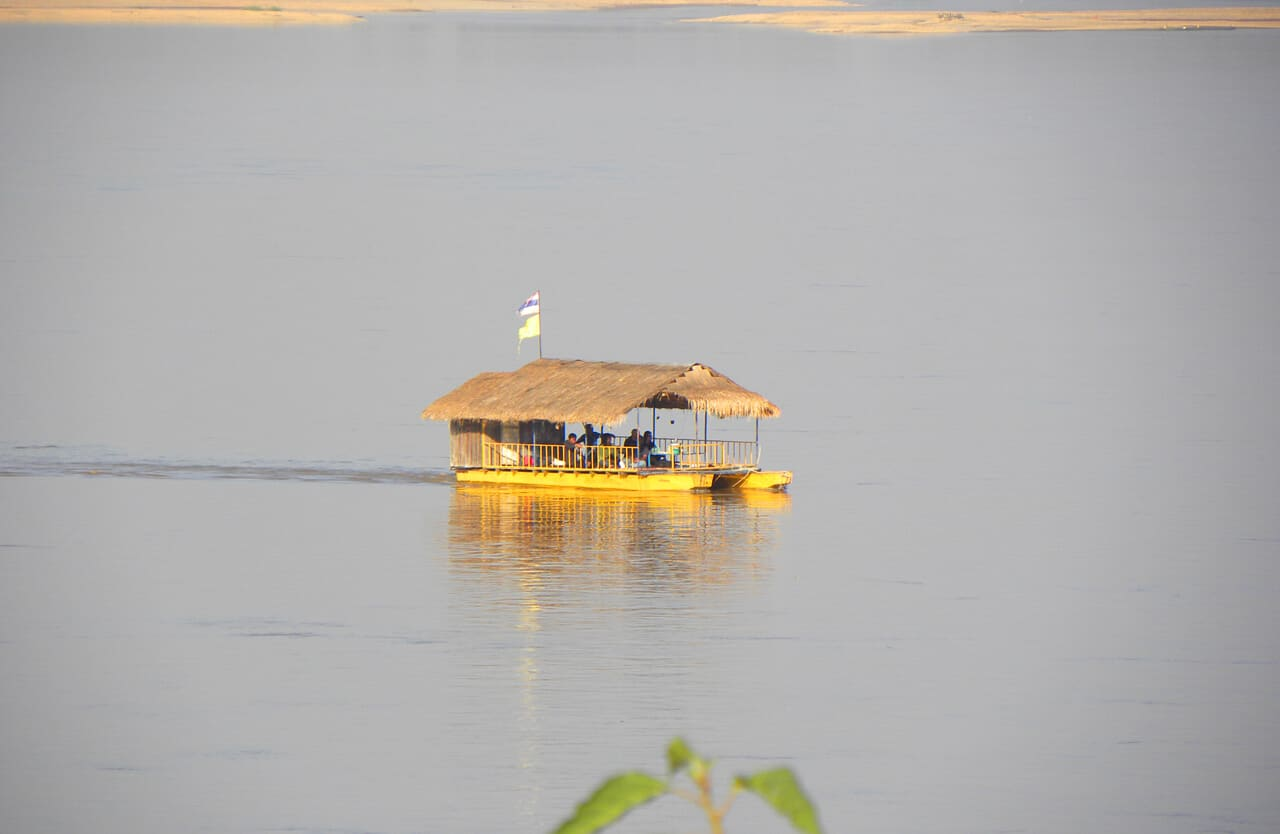 boat on the Mekong. Why we love Nong Khai