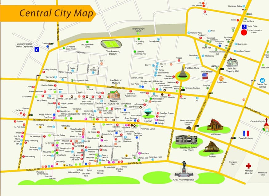 Why Vientiane is worth a visit. Map