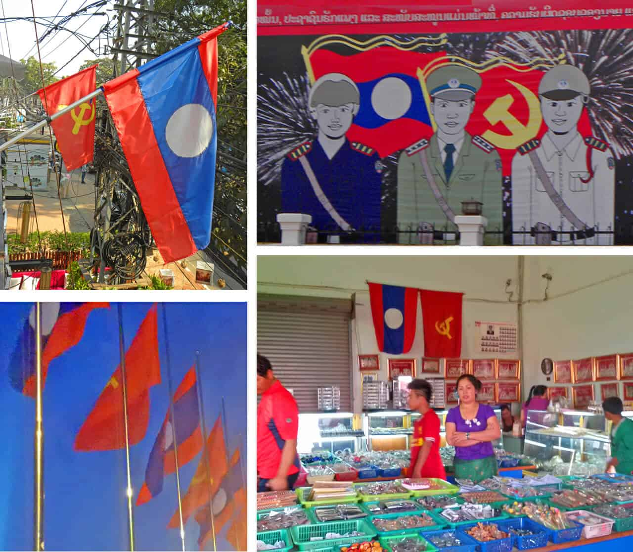 Flags. Why Vientiane is worth a visit