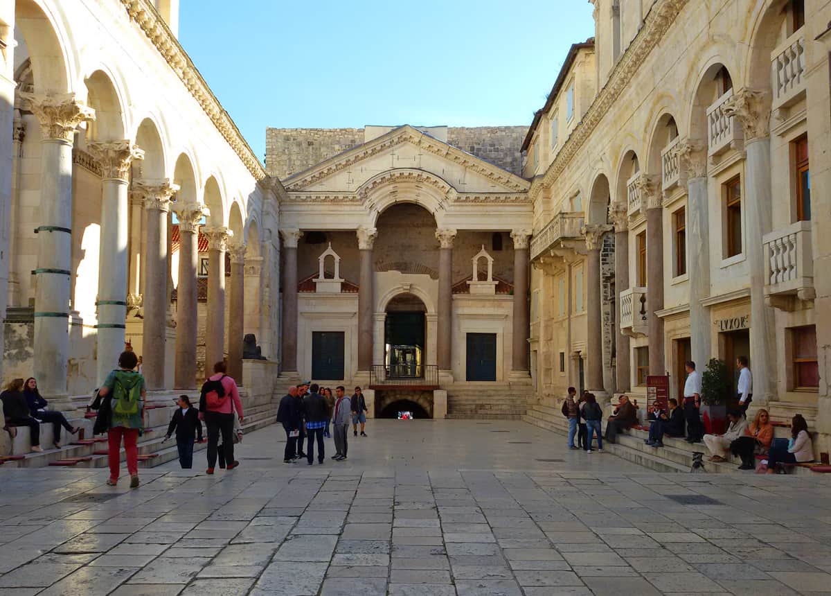 Peristyle in Diocletian's Palace – Split, Croatia