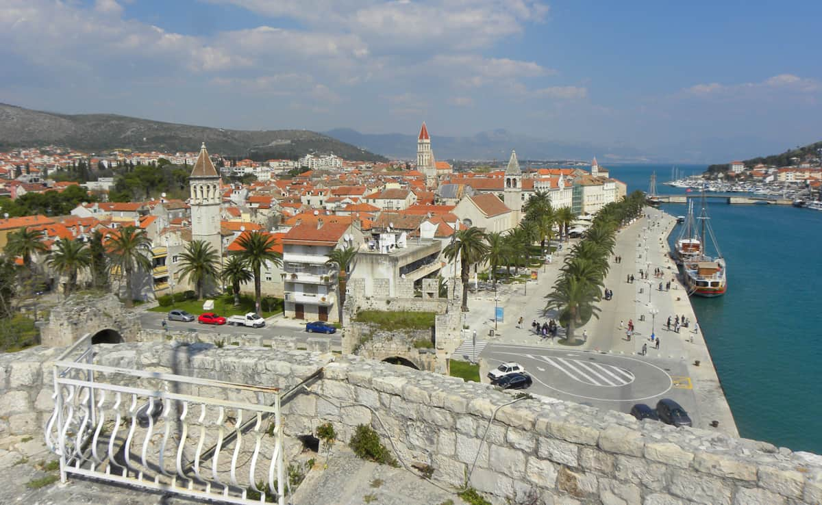 views from the Fortress of Kamerlengo, Trogir