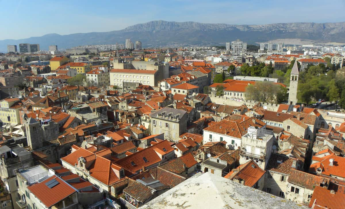 Views from the bell tower, Split, Croatia