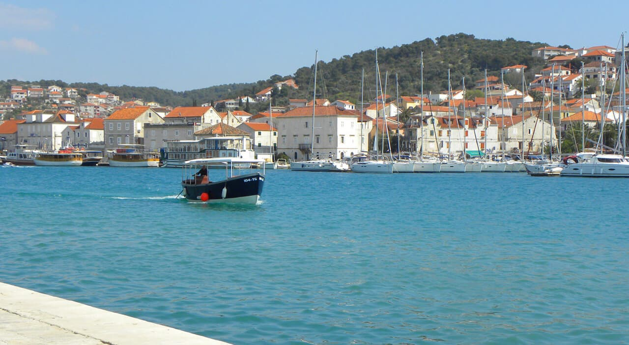 views of the Riva in Trogir