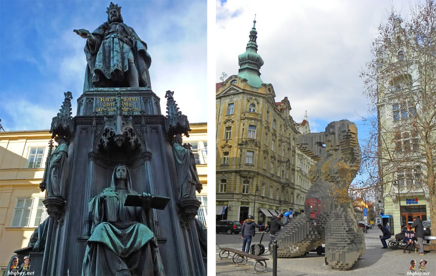 statues in Prague