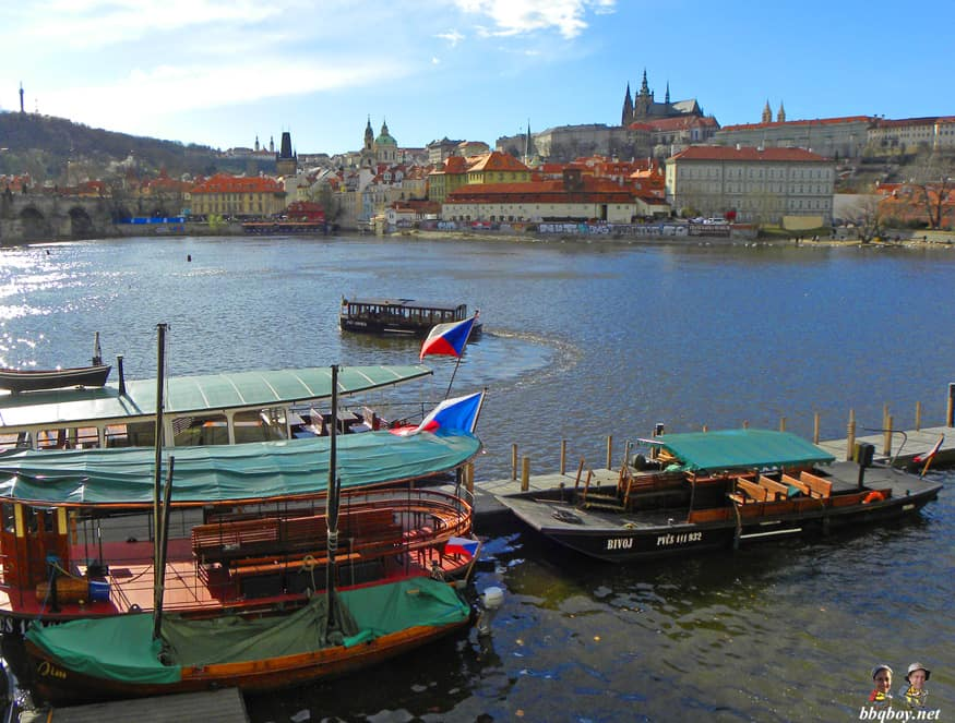view over Vltava river, Prague