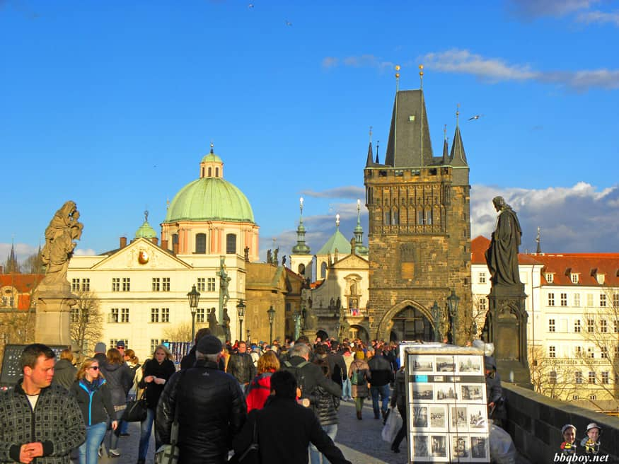 views on old town from the charles bridge