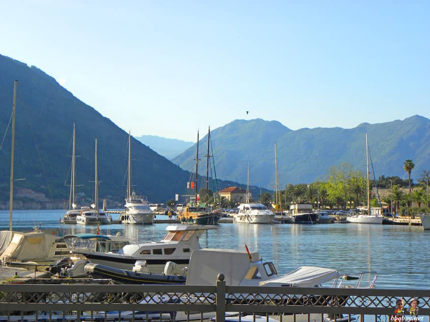 Harbor in Kotor, Montenegro