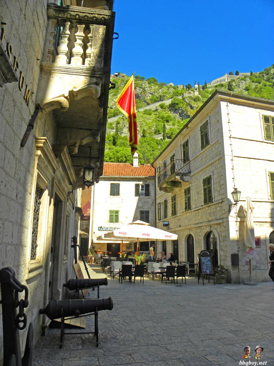 Kotor, in front of Maritime Museum