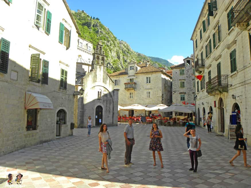 Square in front of St. Nicolas, Kotor, Montenegro