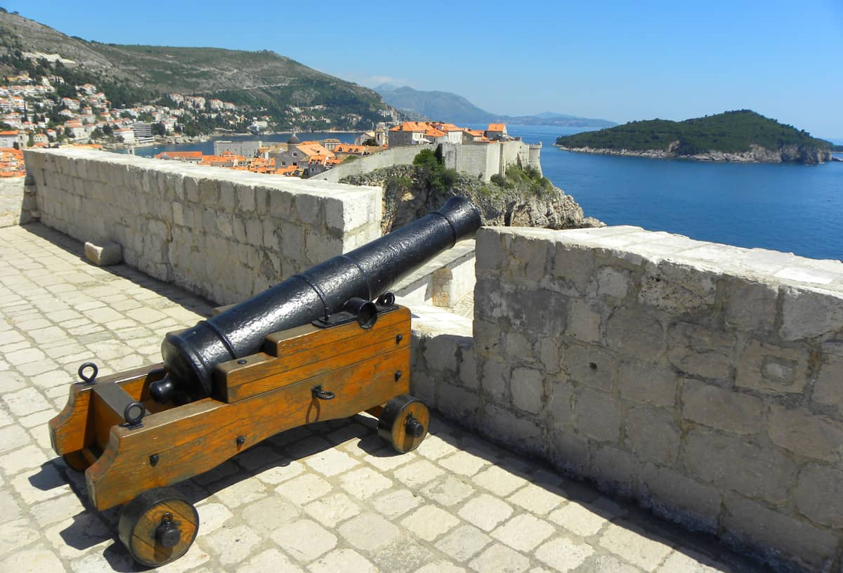 canon at St. Lawrence Fortress, Dubrovnik