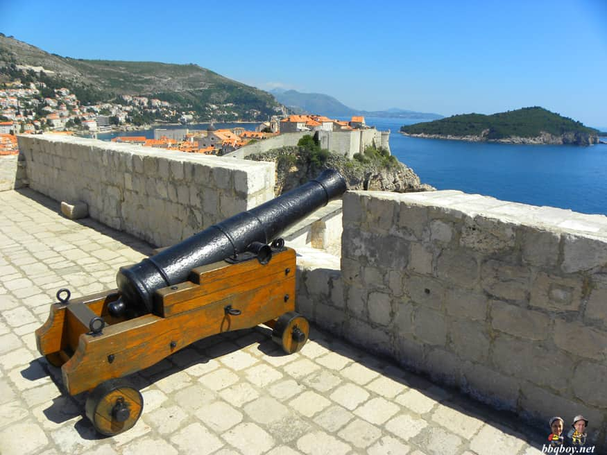 cannon, st. lawrence fortress, dubrovnik