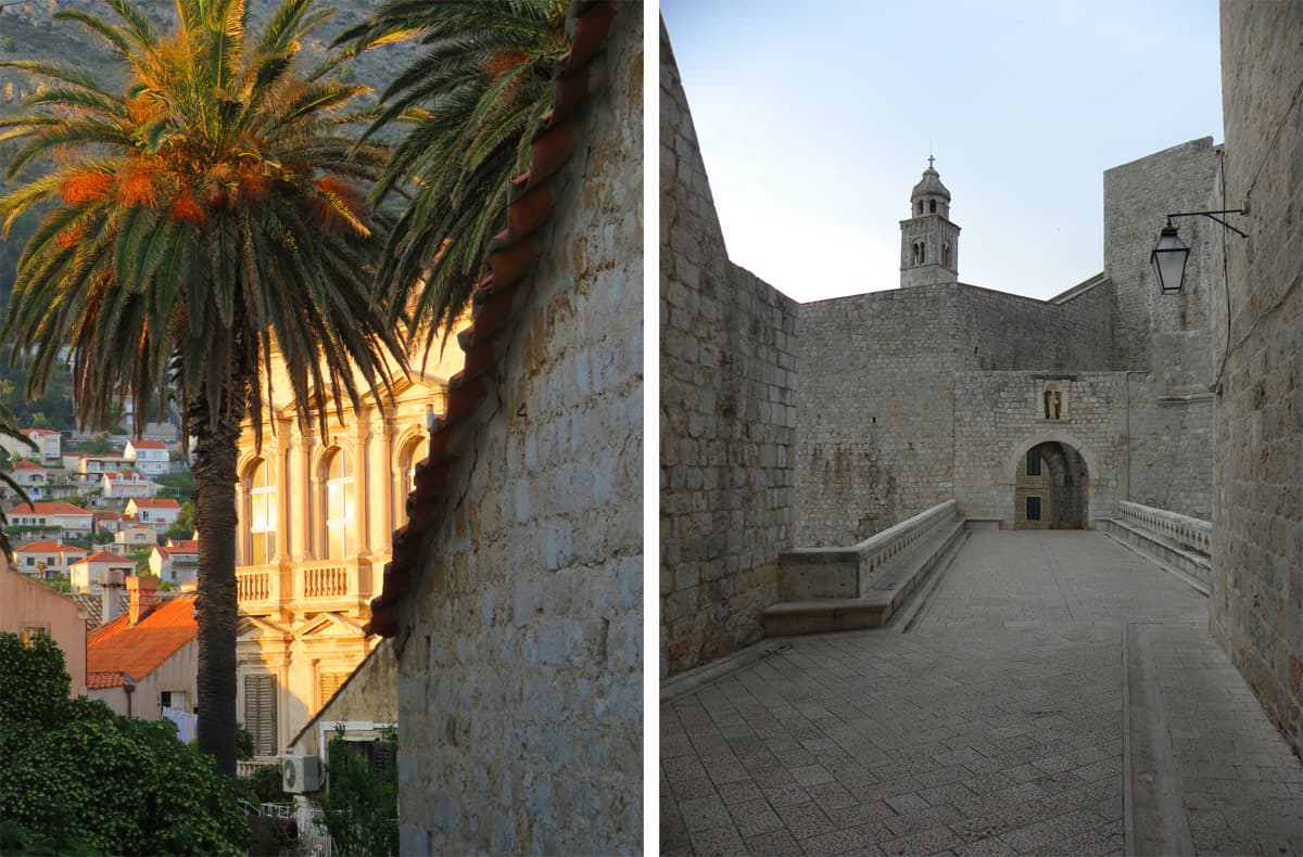 highlights in the old town of Dubrovnik, Croatia