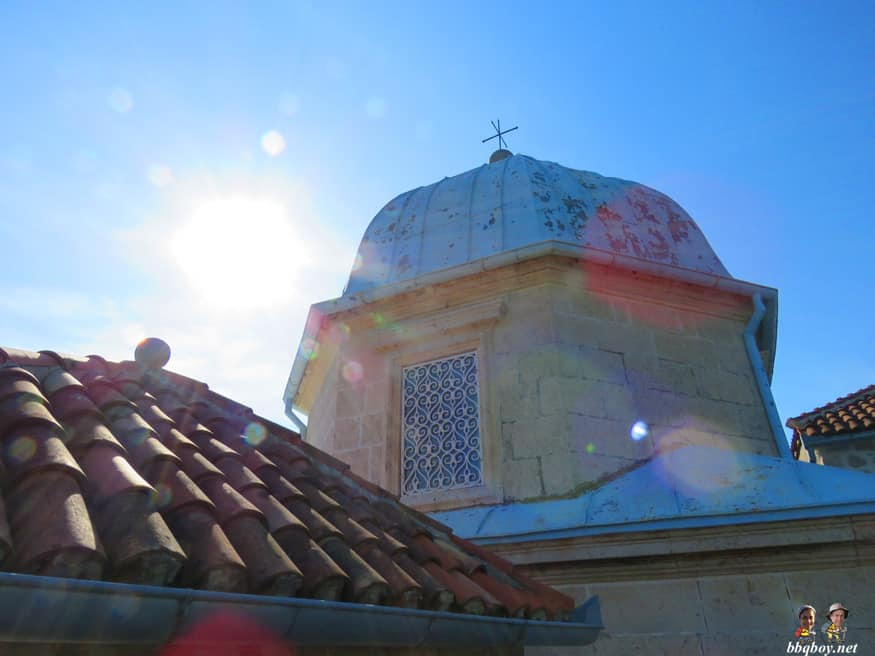 roof of Our Lady of the Rocks, Perast