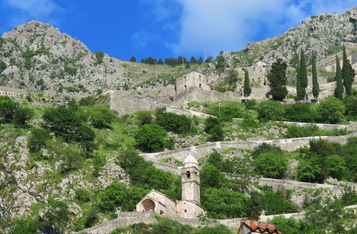 Views up to the Fortress of St. John. Why Kotor (Montenegro) impressed us more than Dubrovnik