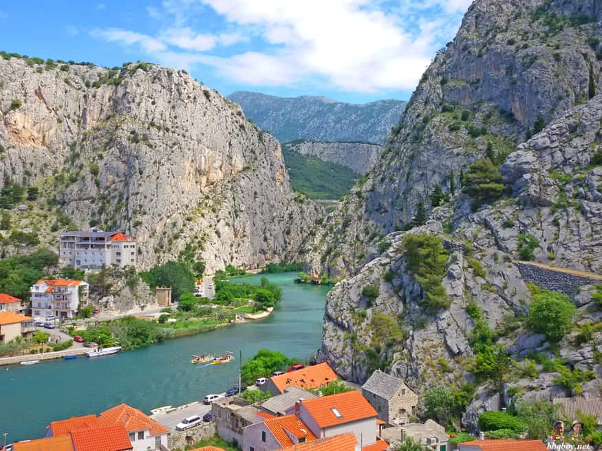 gorge of the cetina river, Omis, Croatia