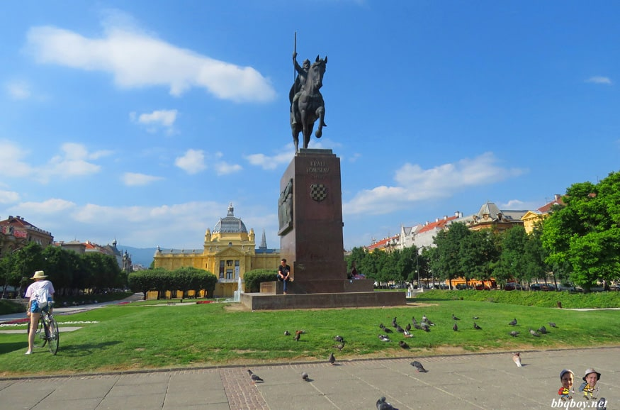 views of King Tomislav Square, Zagreb, Croatia