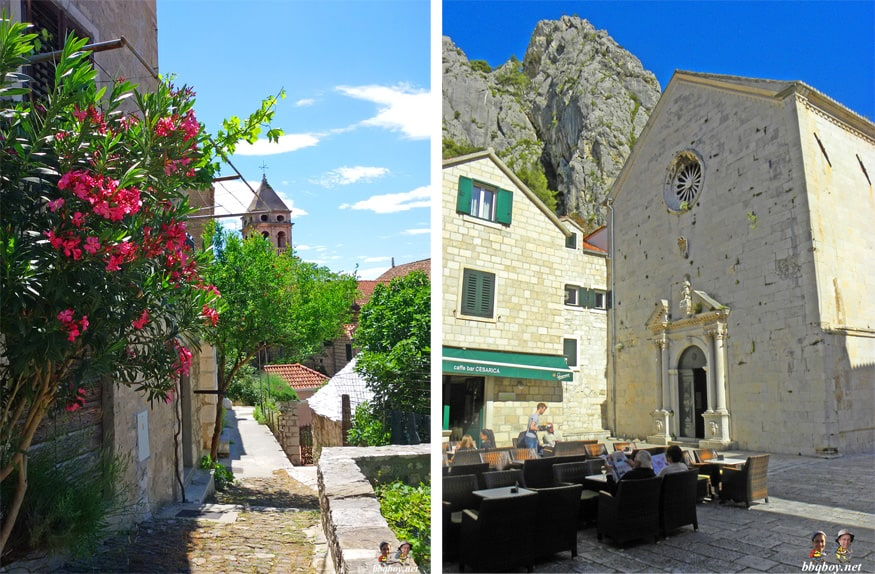 views over St. Michael church, Omis