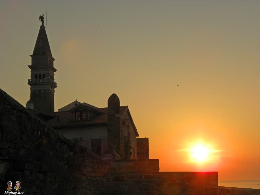 bell tower and cathedral of St. George, Piran