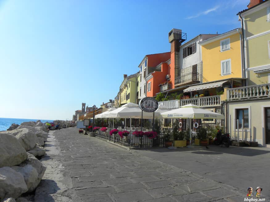 seaside restaurants, Piran, Slovenia