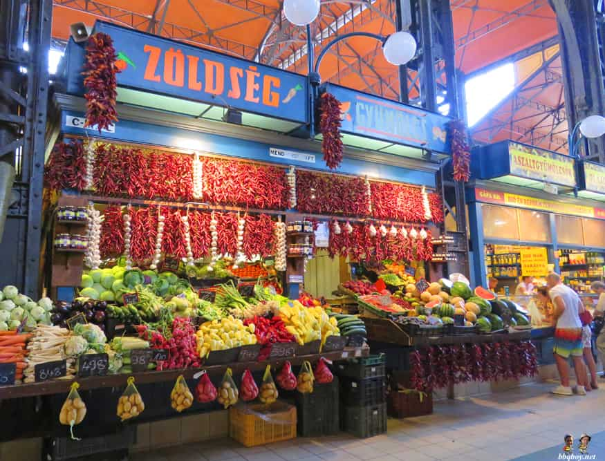 vegetables, central market, Budapest