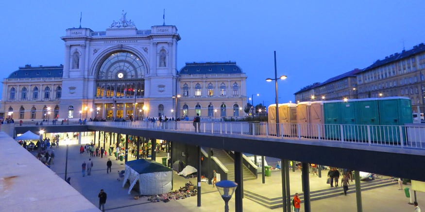 Keleti train station. On the frontlines of the migrant crisis in Budapest