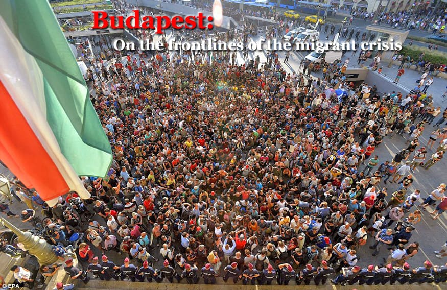On the frontlines of the migrant crisis in Budapest, Hungary