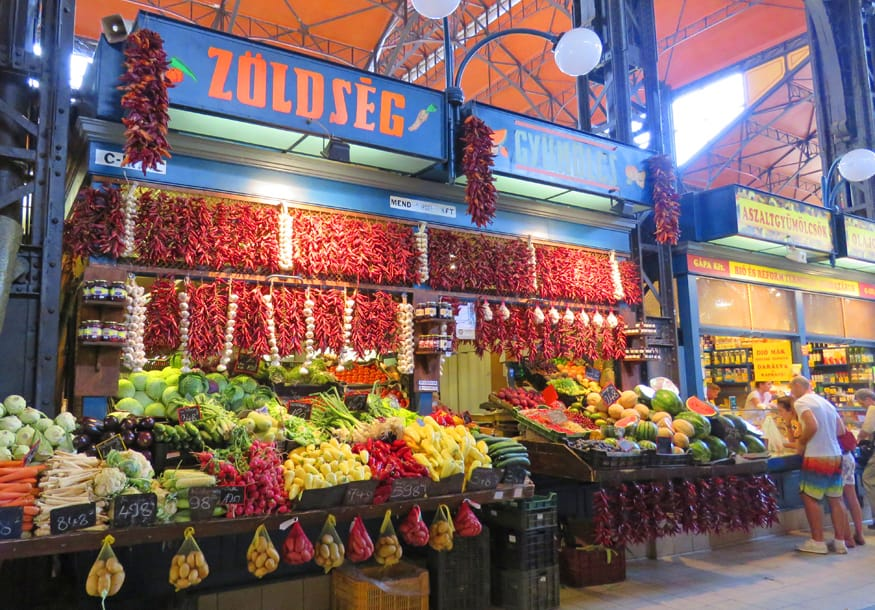 Central Market Hall. Our Taste Hungary inspired Budapest Food Tour.