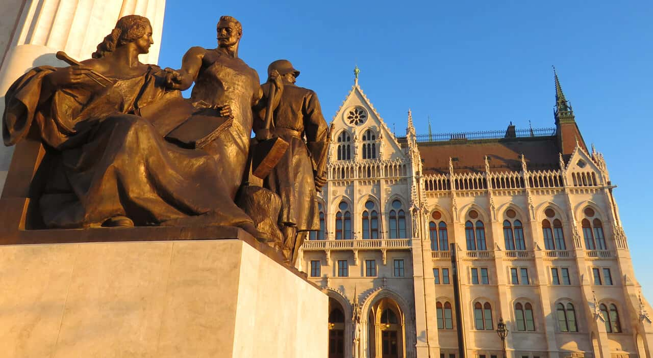 Tisza's Statue, Kossuth Square in front of Parliament. Budapest