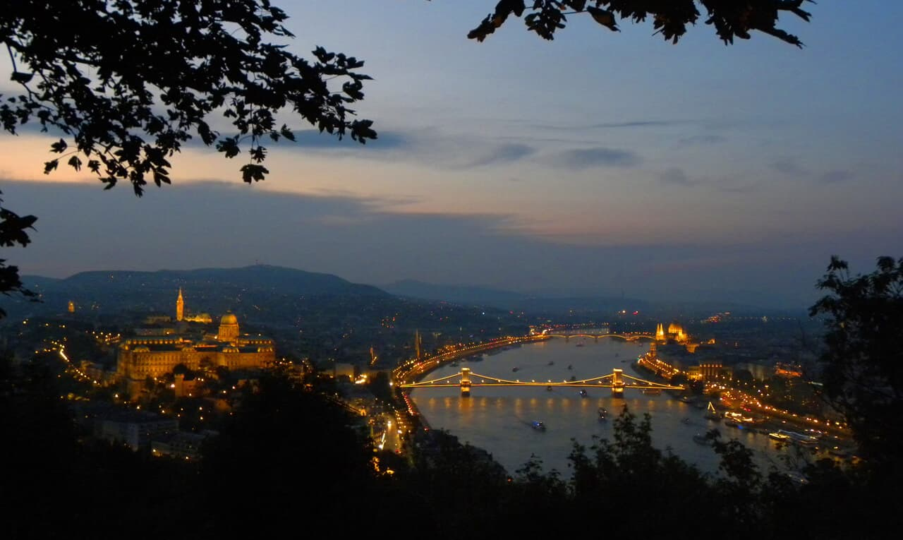 Gellert Hill, views of Budapest