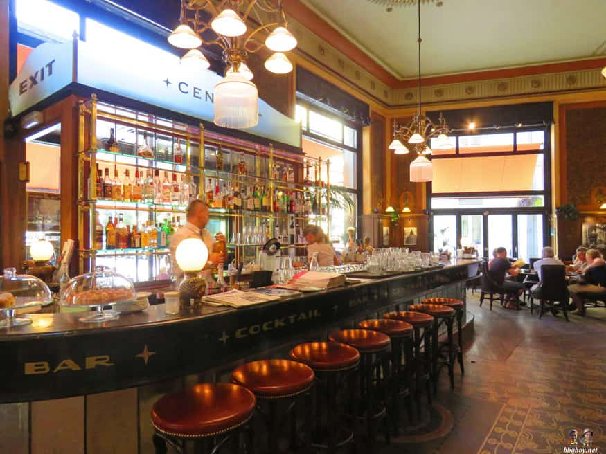 bar of the Central cafe, Budapest