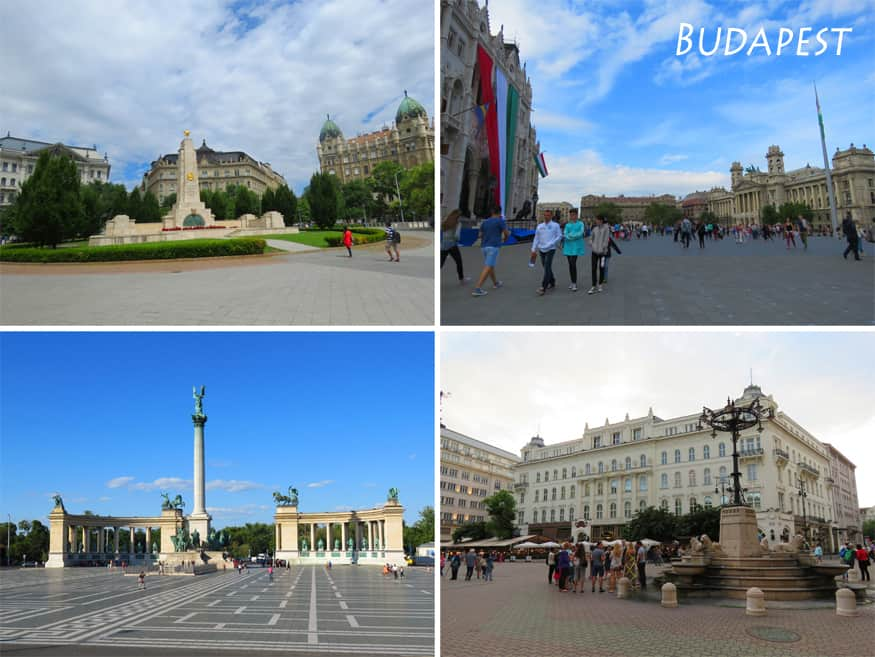 The most beautiful squares in Budapest