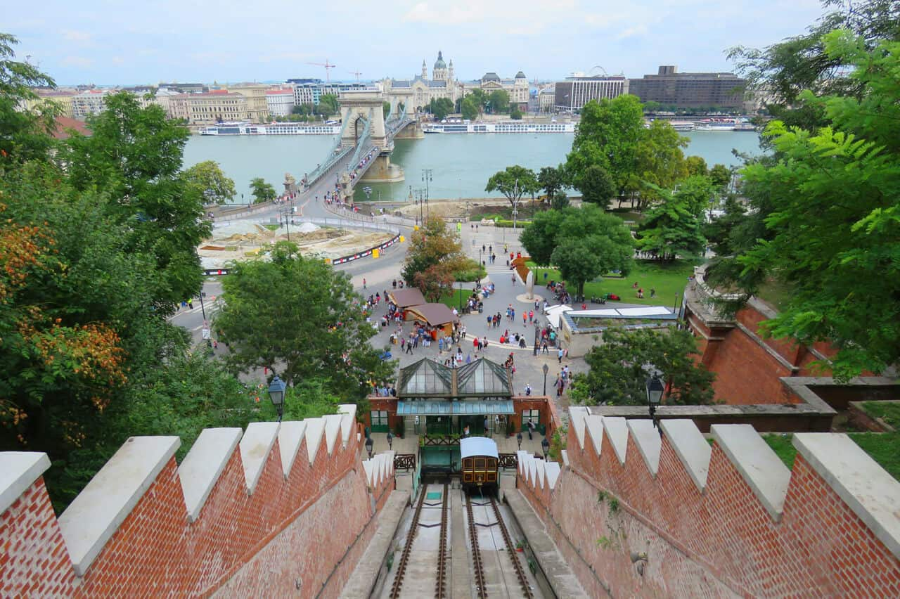 funicular up Castle Hill, Budapest