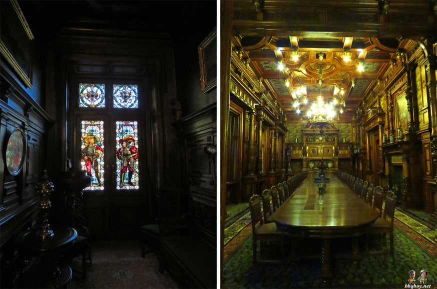 peles castle stained glass and boardroom