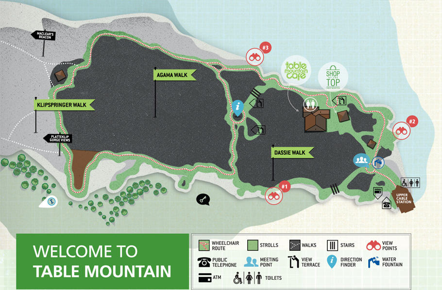 What you need to know about taking the Cable car up Table Mountain. map