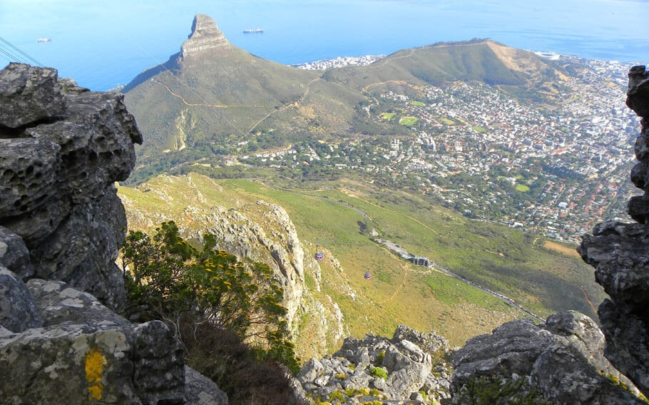 Hiking the India Venster Route up Table Mountain, Cape Town, South Africa