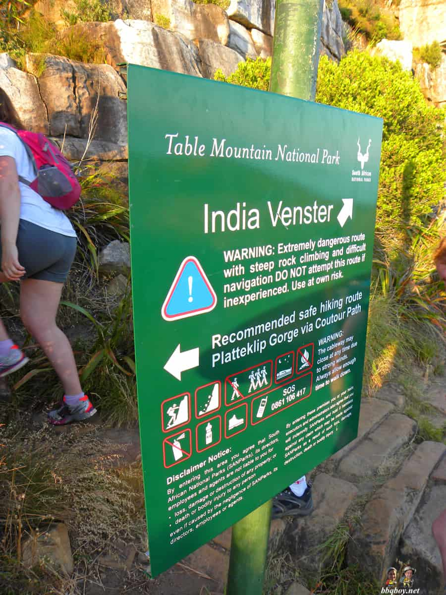 Hiking up Table Mountain, Cape Town - the India Venster trail (3)