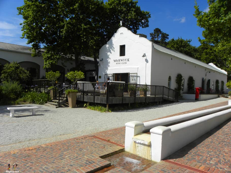 warwick wine estate, main building, stellenbosch