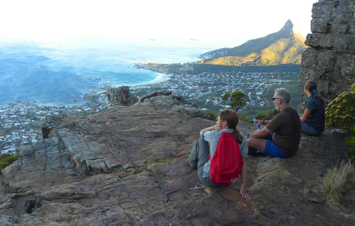 Breakfast Table. Hiking up the Twelve Apostles to Table Mountain, Cape Town
